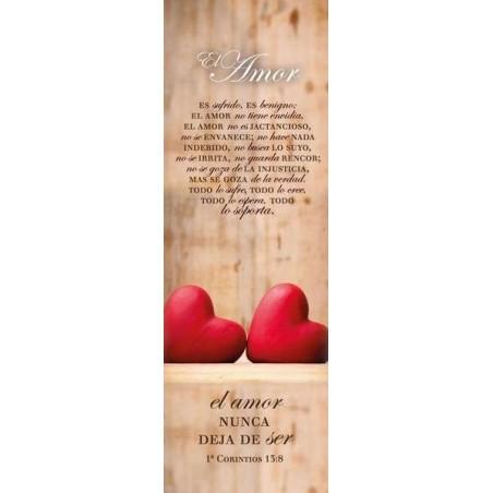 Separador De Libros Con La Frase El Amor Nunca Deja De Ser