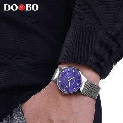 Reloj Doobo malla metal plateado
